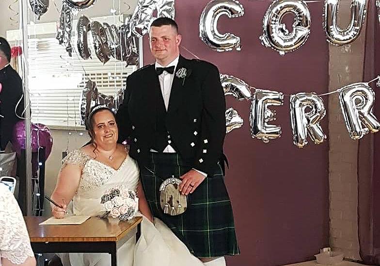 Wedding ceremony in Loch Winnoch