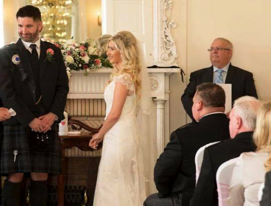 Wedding Ceremony at Airth Castle