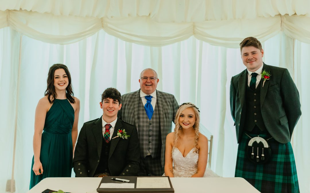Winter Wedding at Cornhill Castle